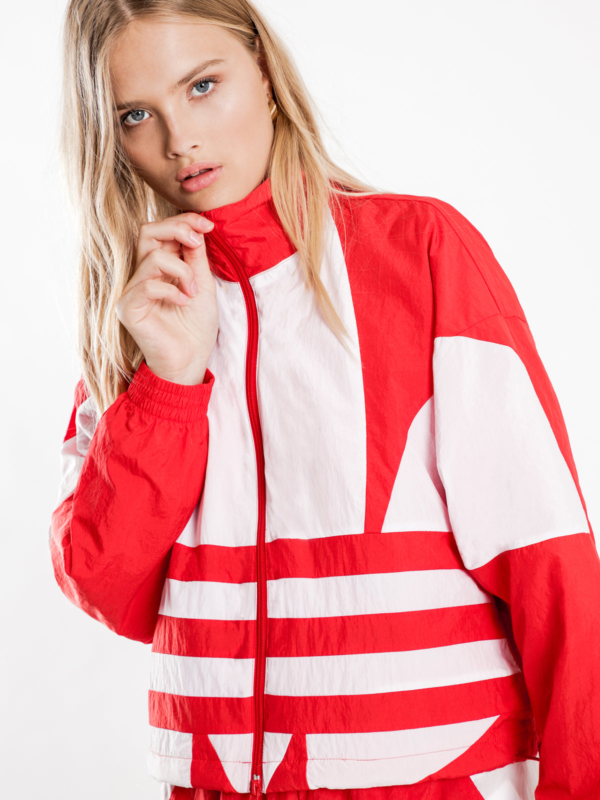 Large Logo Track Jacket in Lush Red