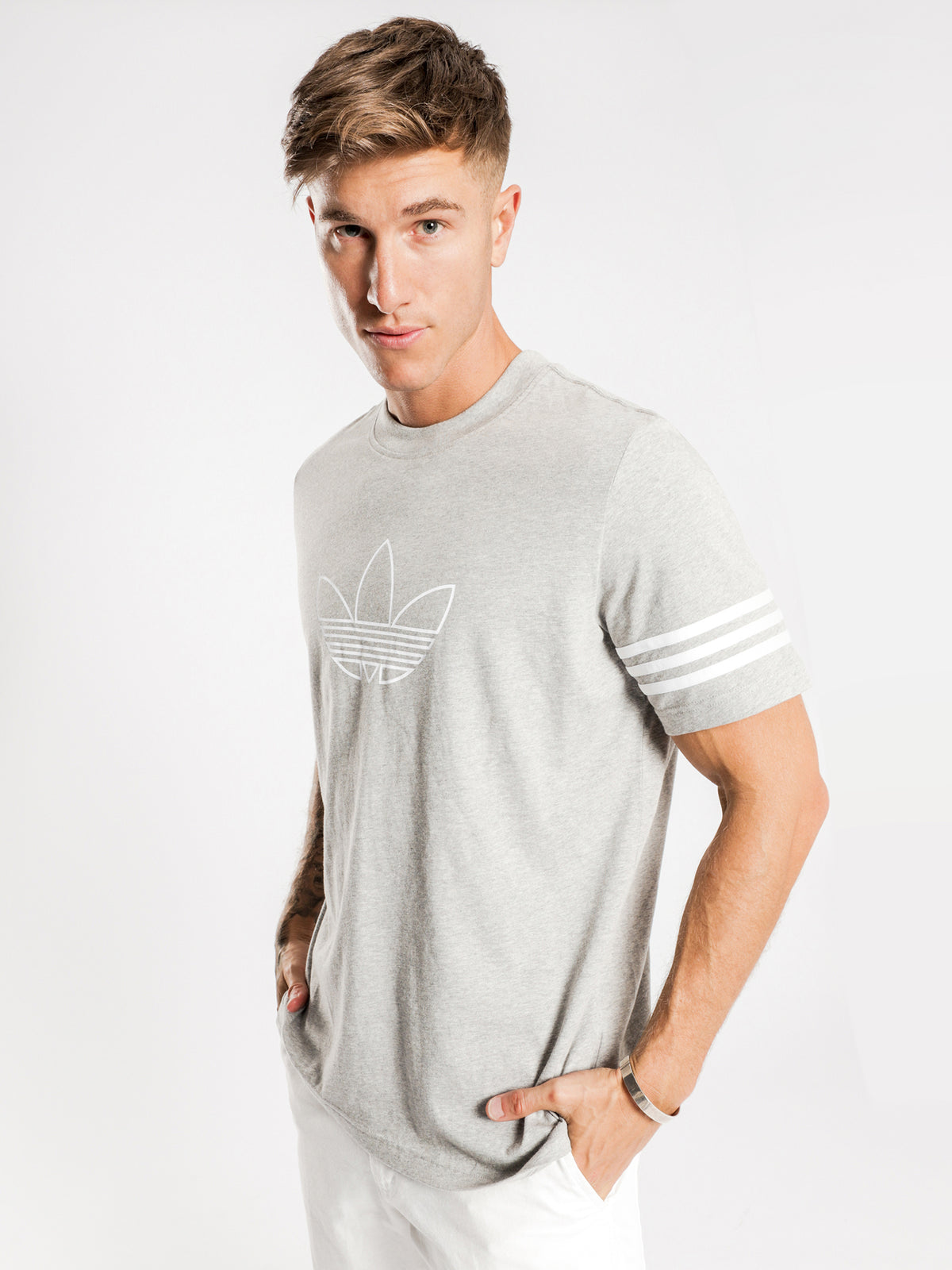 Outline T-Shirt in Grey