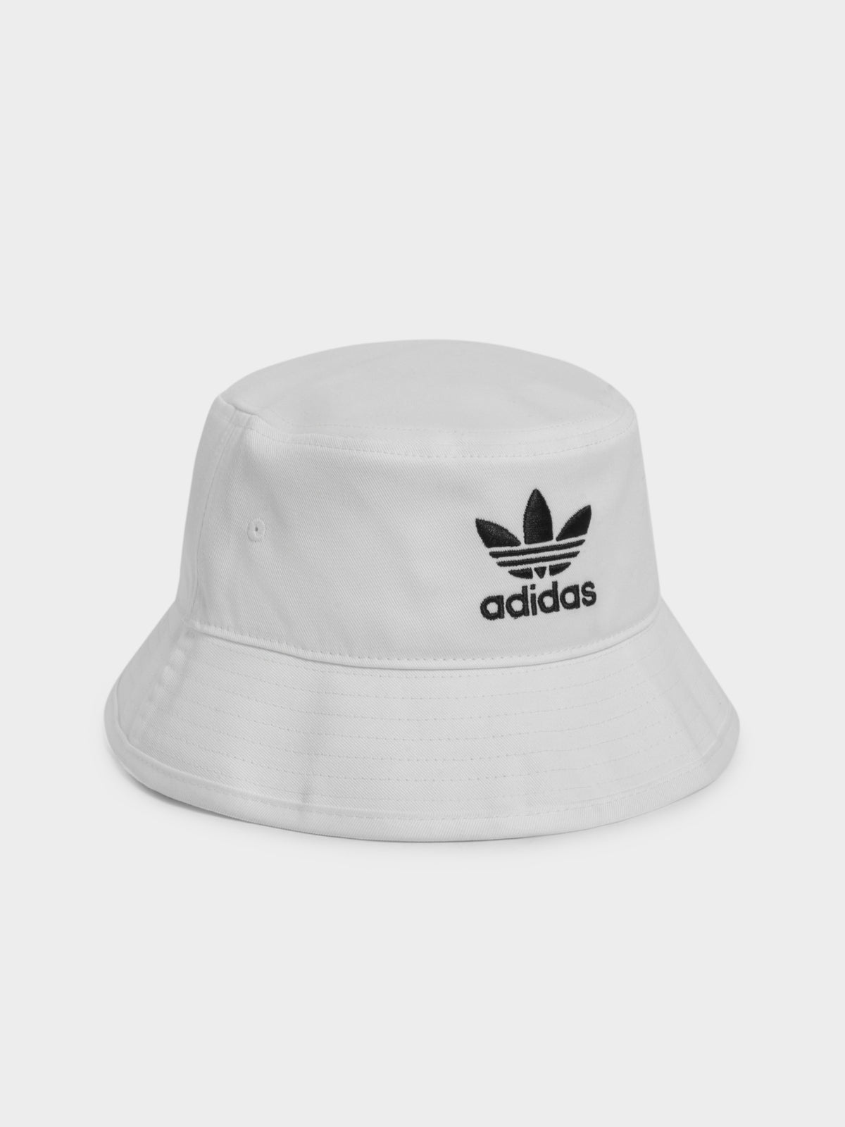 Trefoil Bucket Hat in White