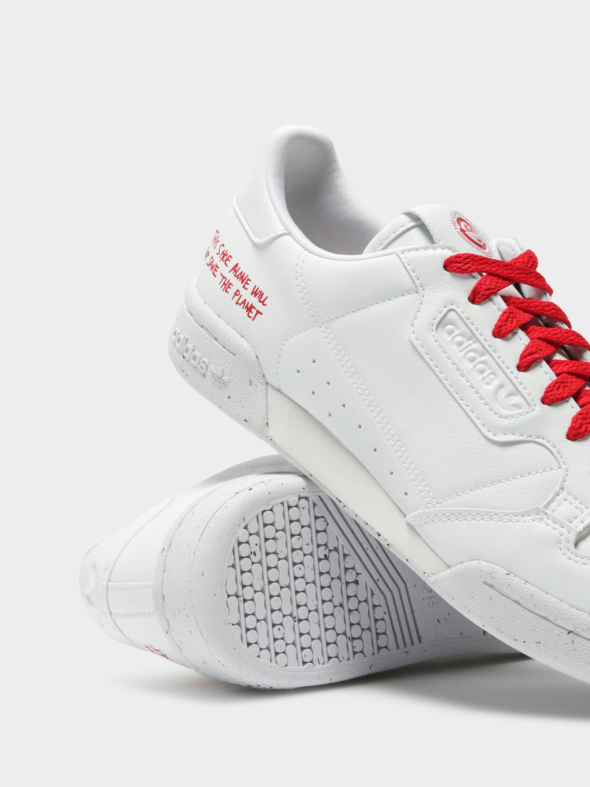 Unisex Continental 80 Sneakers in White & Scarlet