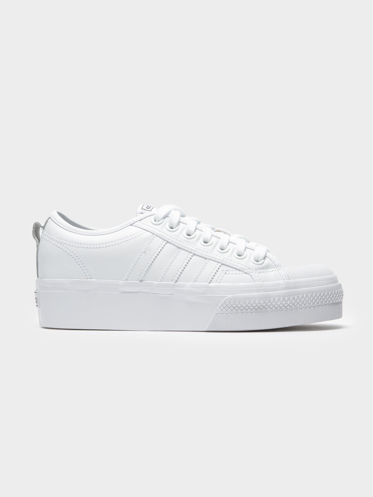 Womens Nizza Platform Sneakers in White