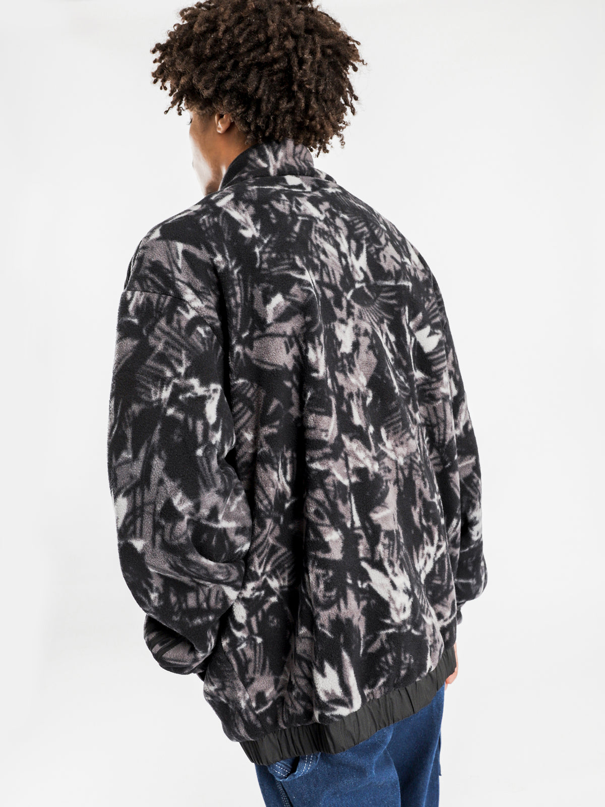 All Over Print Jacket in Black