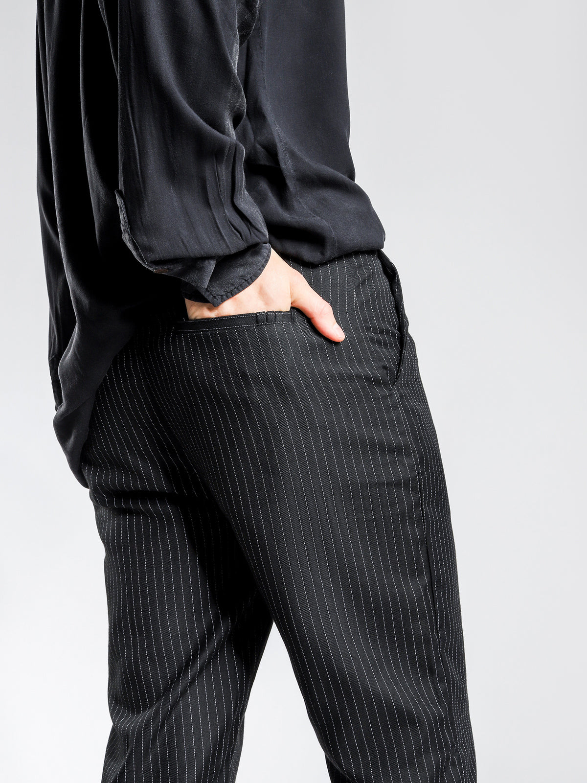 Vicious Pants in Black & White Stripe