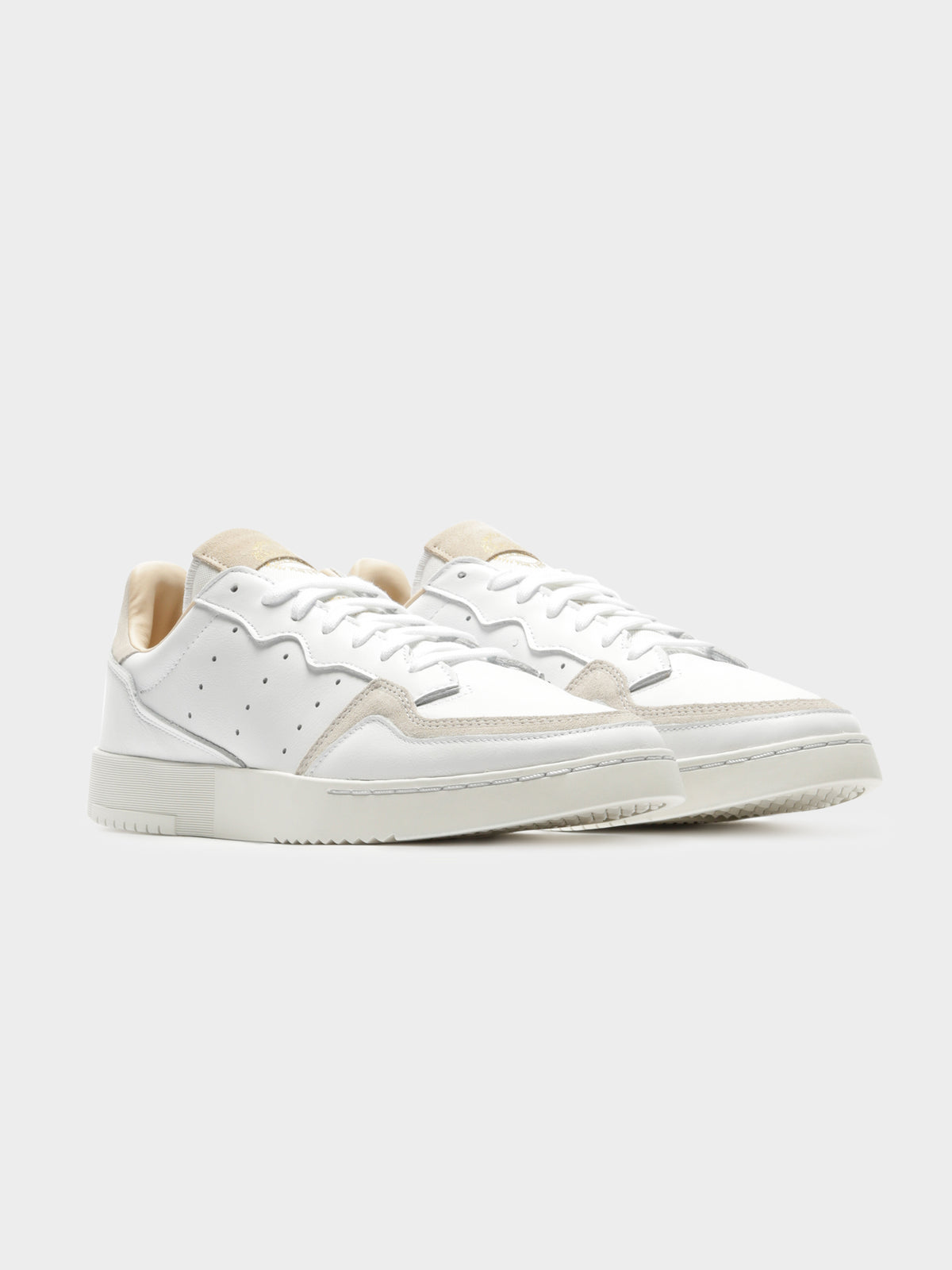 Unisex Supercourt Sneakers in Cloud White & Crystal White
