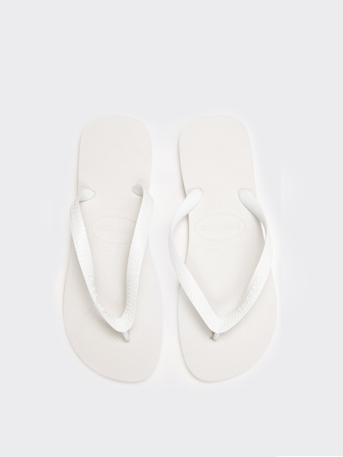 Unisex Top Thongs in White