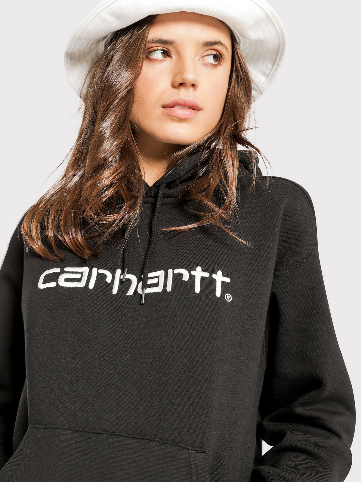 Hooded Carhartt Sweatshirt in Black & White