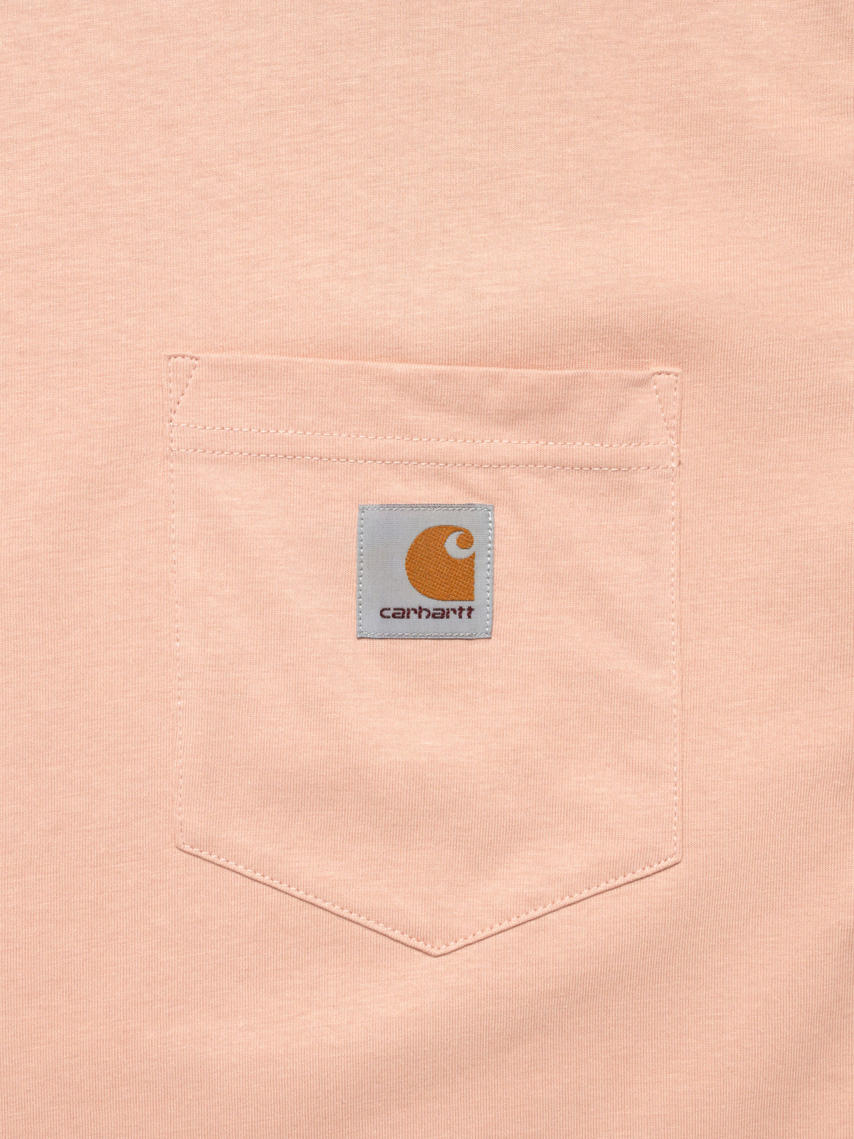 Short Sleeve Pocket T-Shirt in Powdery Pink