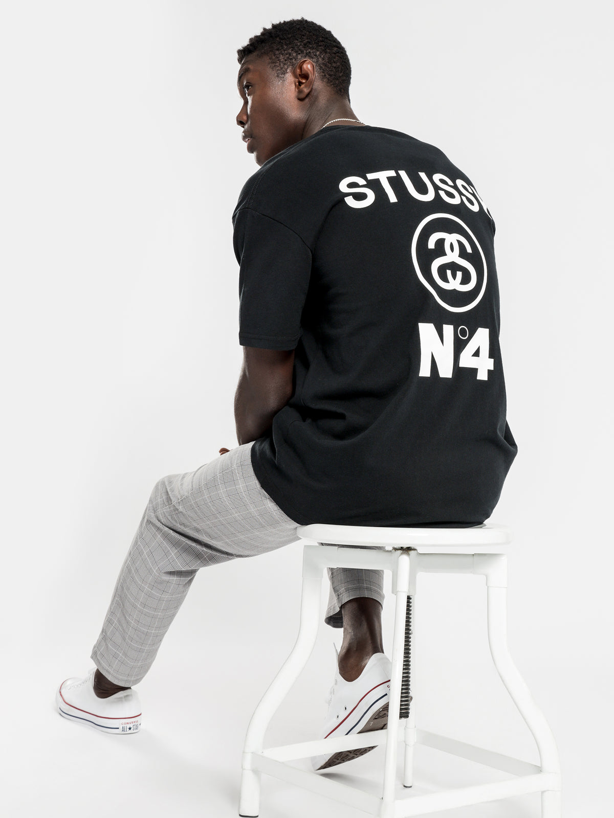 No.4 Short Sleeve T-Shirt in Black