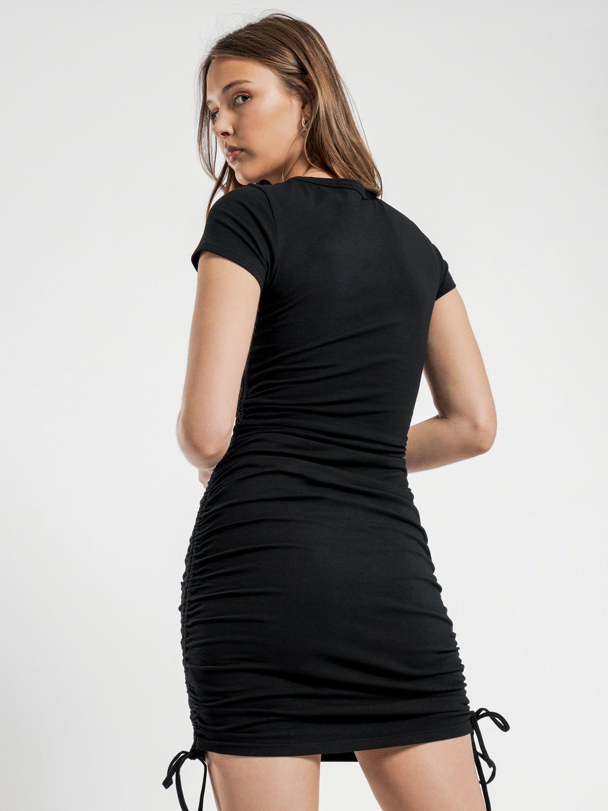 Gigi Drawstring Dress in Black