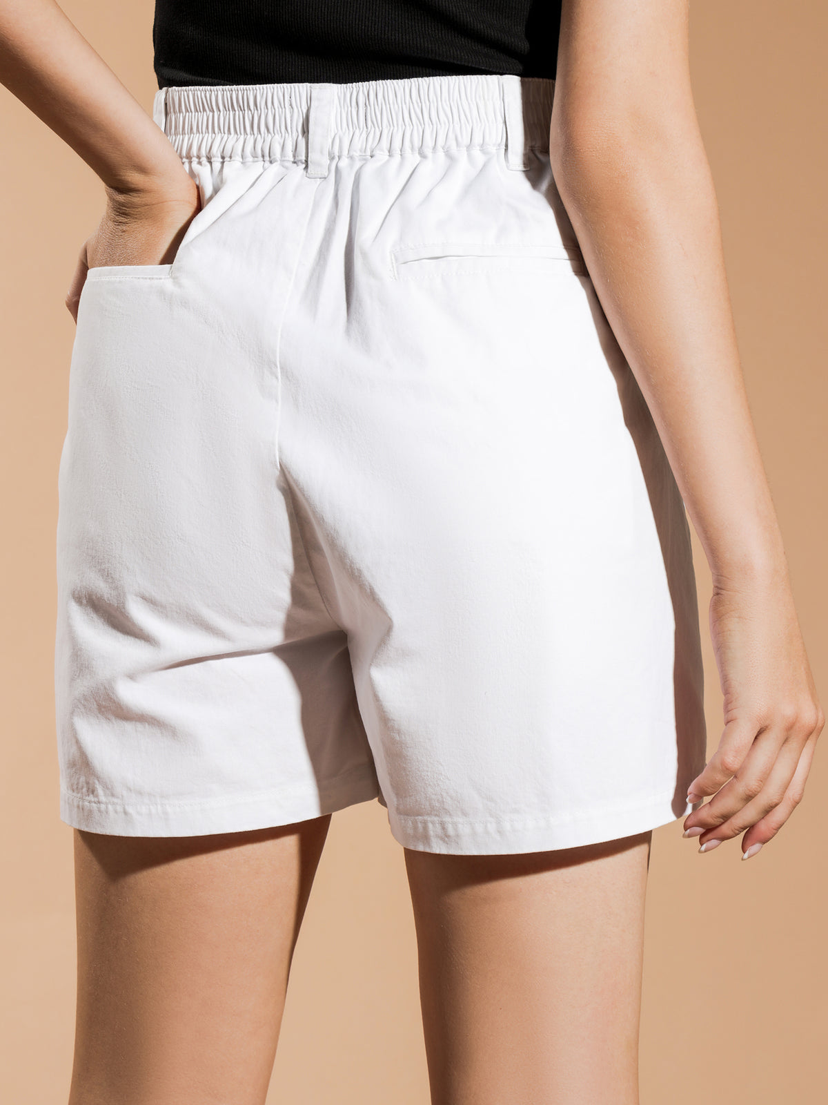 Brentwood Pleated Shorts in White