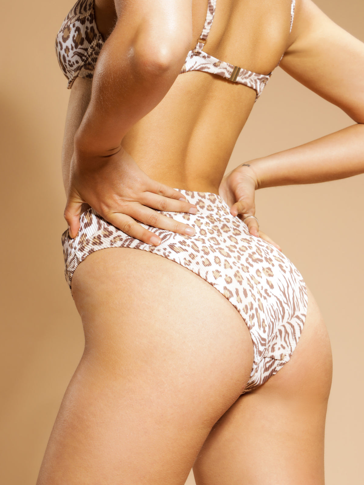 Leopard High Waist Brief in Leopard