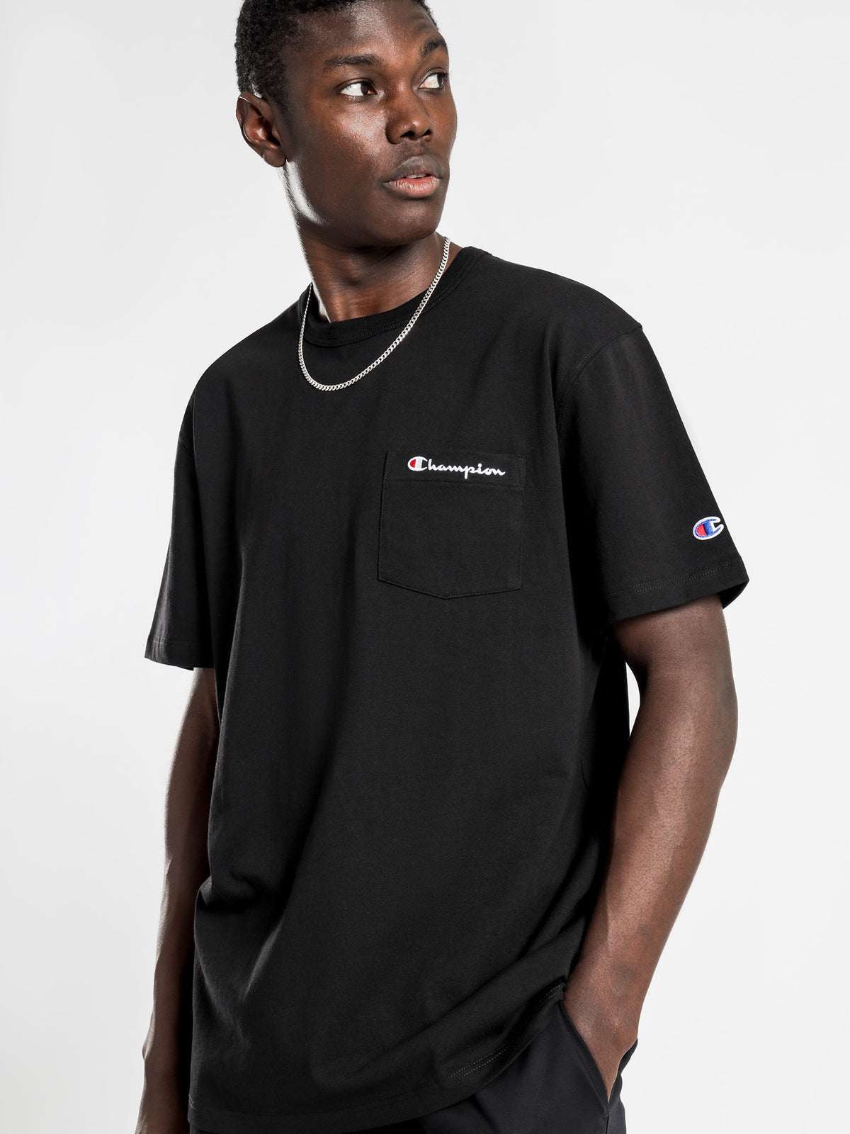 Heritage Pocket T-Shirt in Black