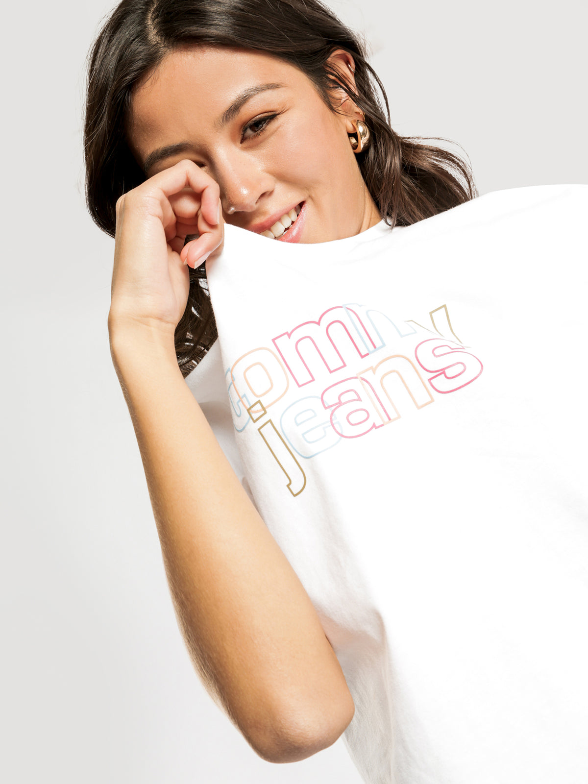 Outline Logo T-Shirt in White