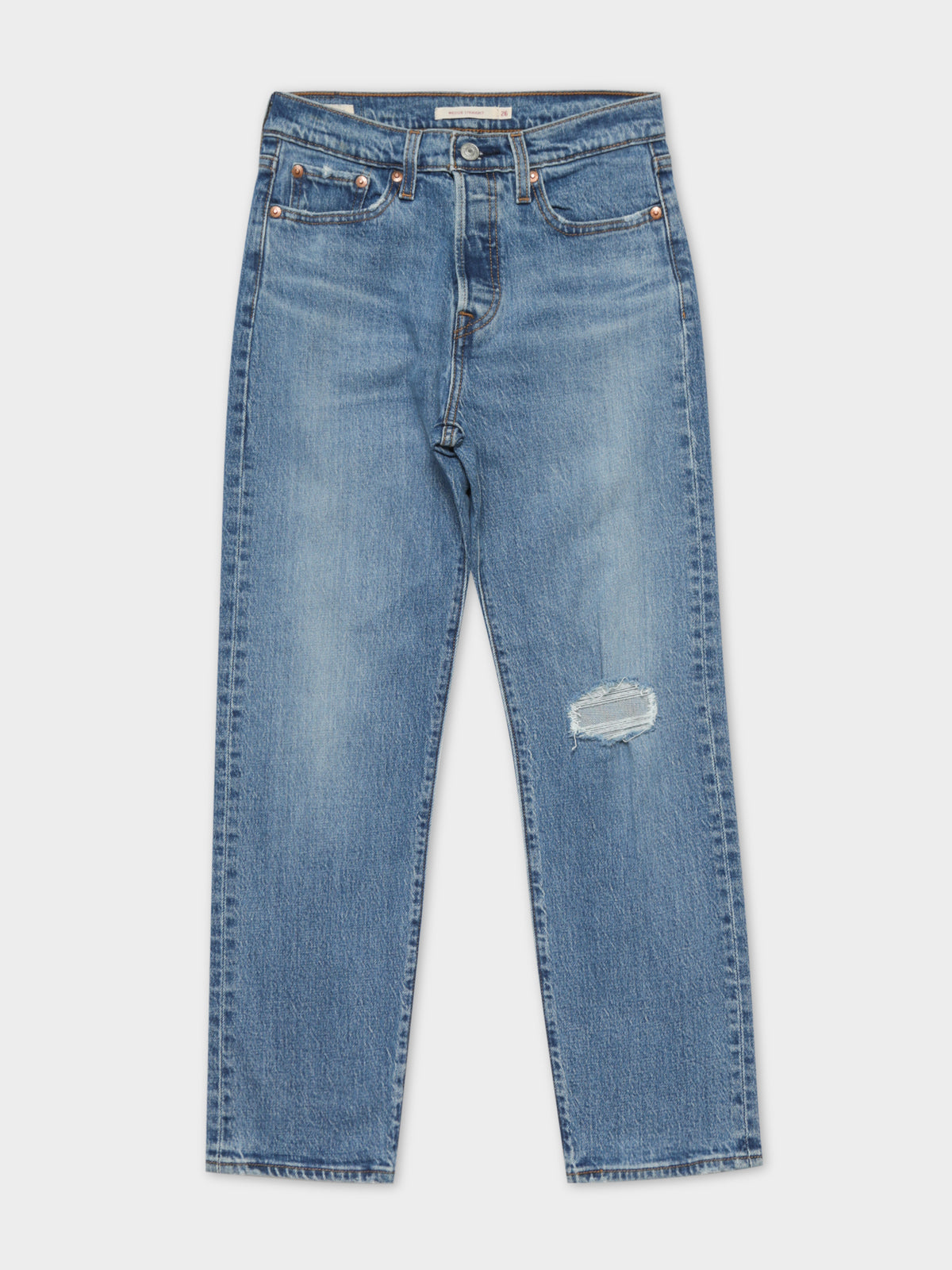 Wedgie Straight Leg Jeans in Medium Wash Jive Tone