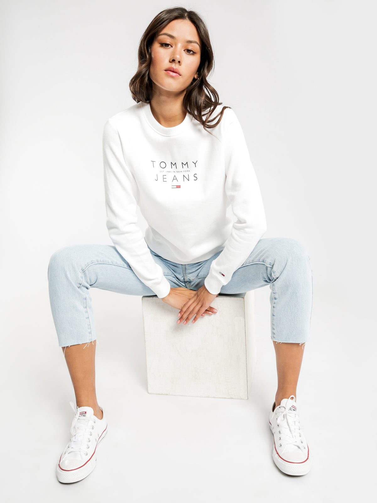 Essential Logo Sweatshirt in White