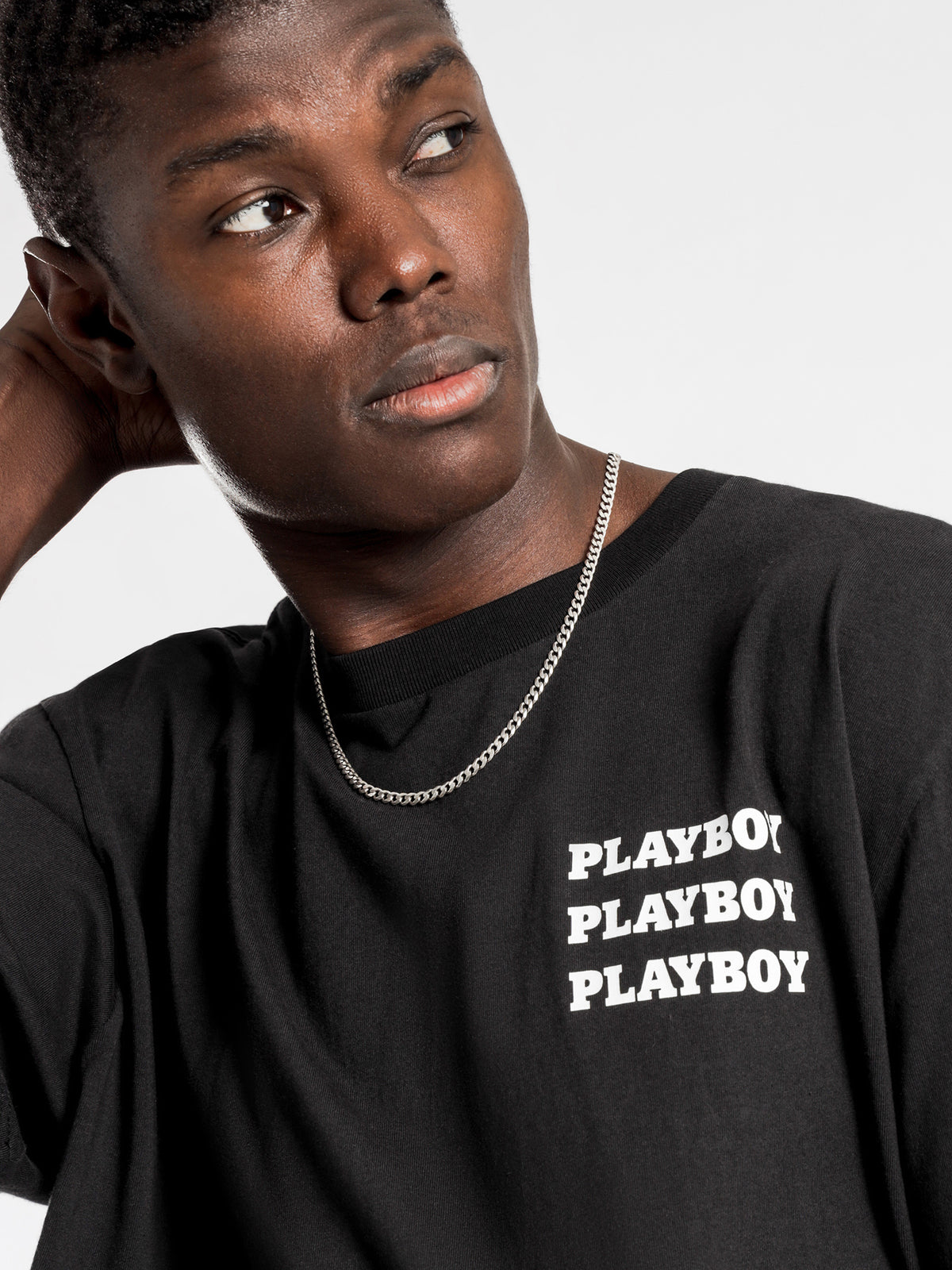 Playboy Logo T-Shirt in Black