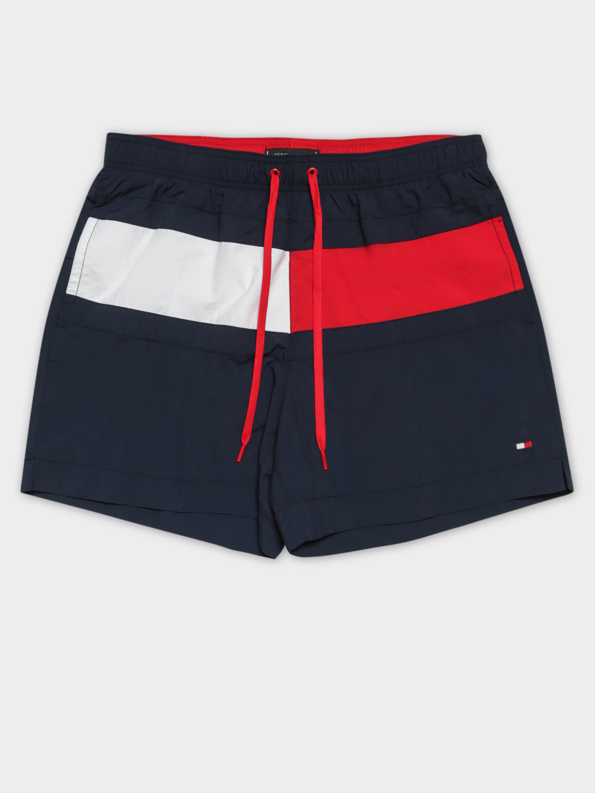 Core Flag Swim Short in Navy