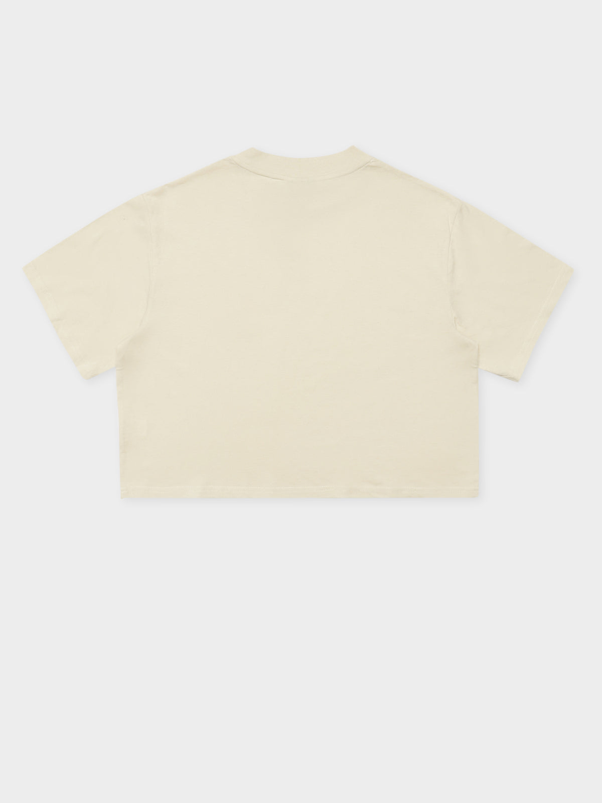 Copyright Boxy Cropped T-Shirt in Warmed White