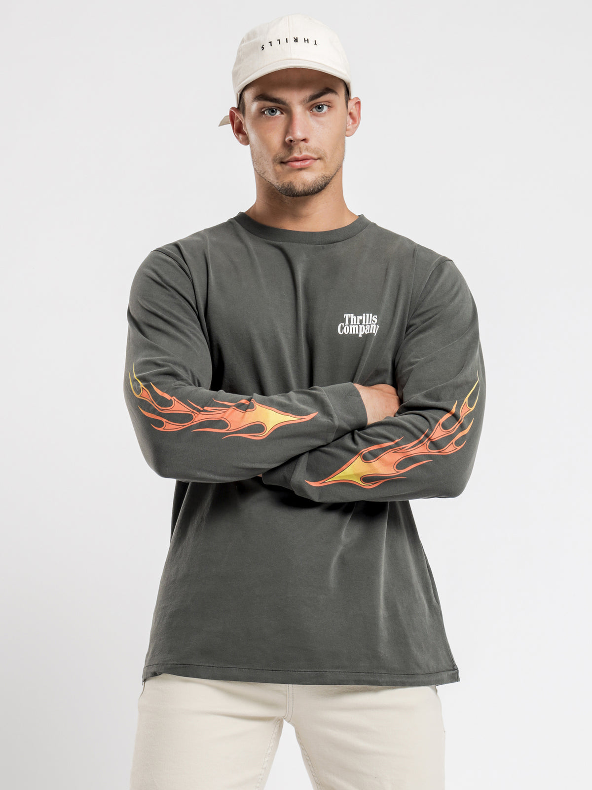 Power In Paradise Long Sleeve T-Shirt in Black