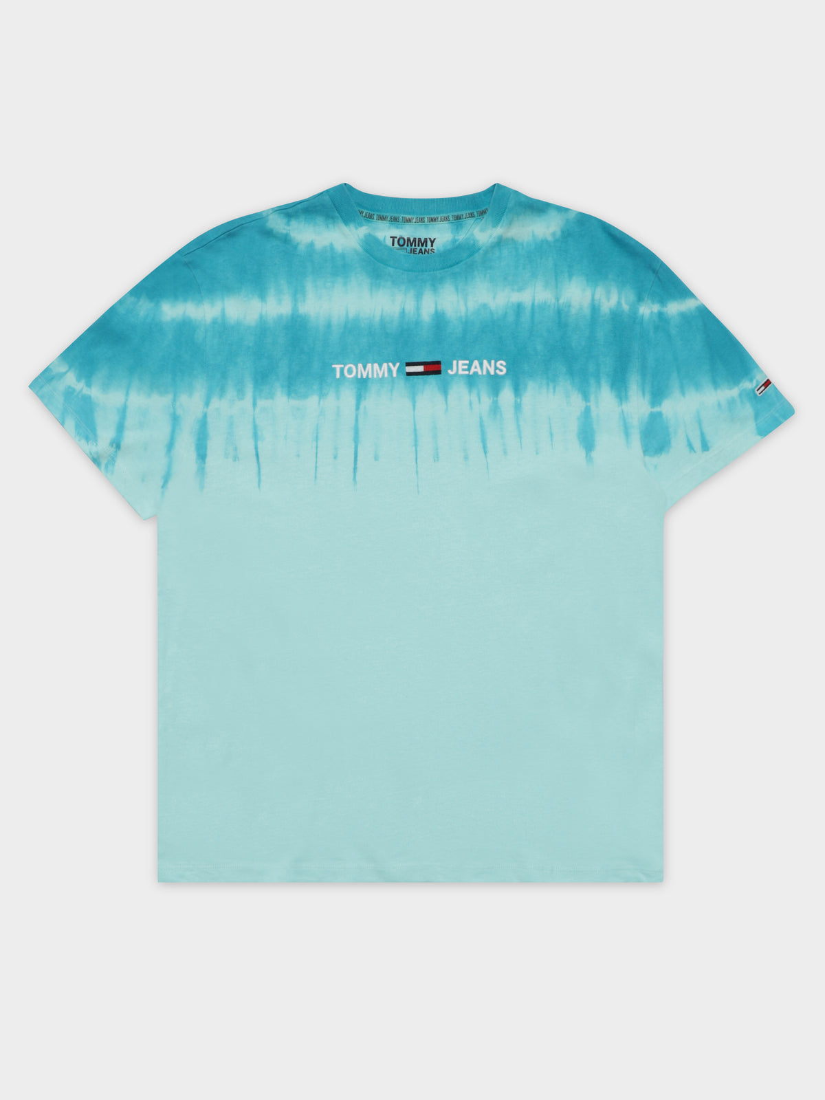 Tie Dye T-Shirt in Light Chlorine Blue