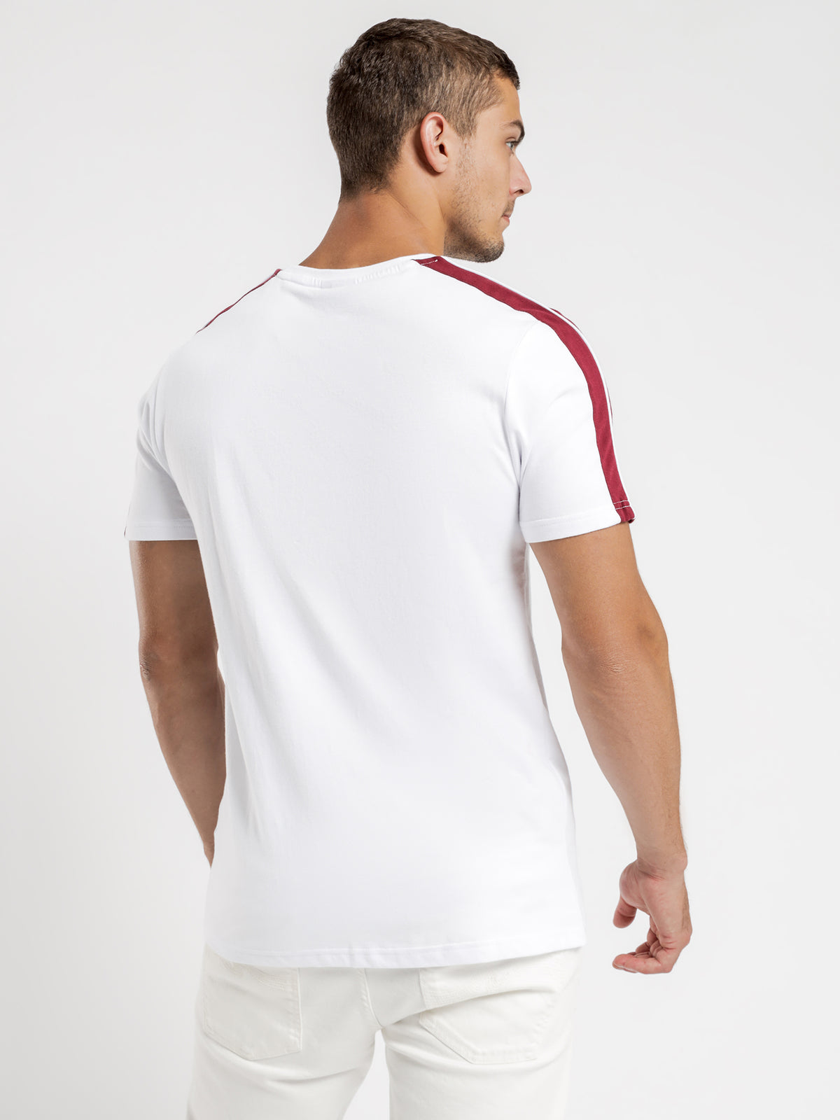 Carcano T-Shirt in White & Red