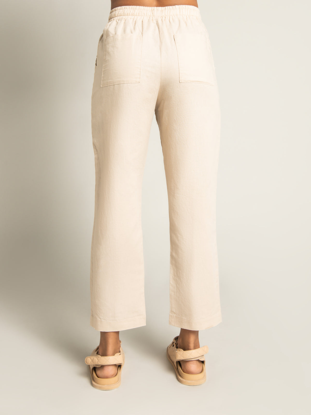 Classic Linen Pants in Sand