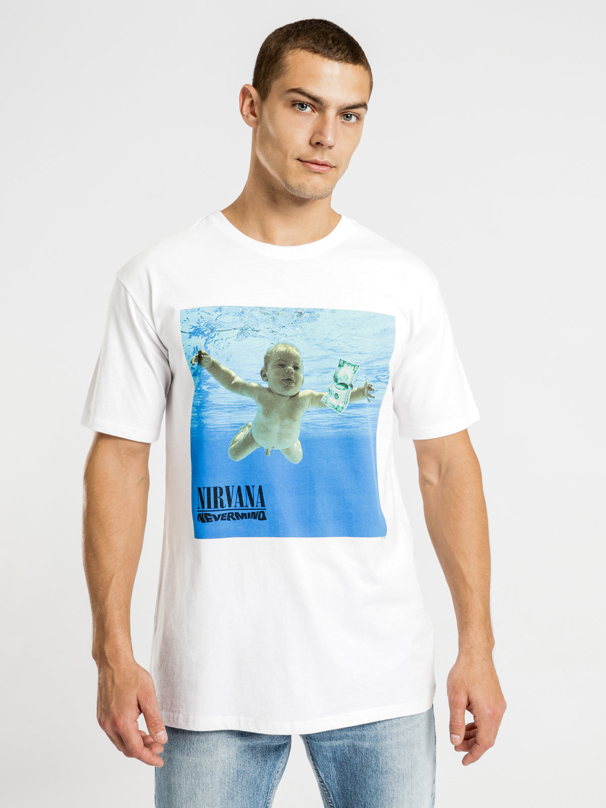 Nevermind T-Shirt in White