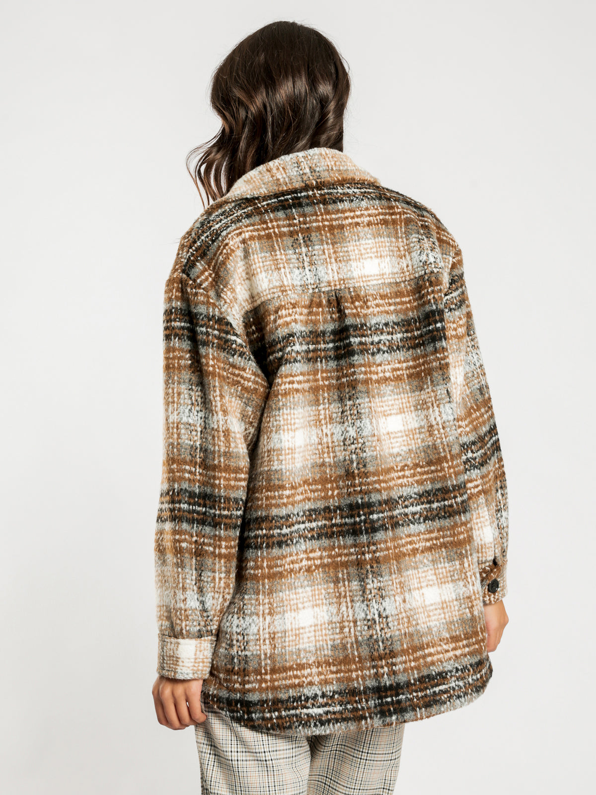 Check Worker Jacket in Brown Check