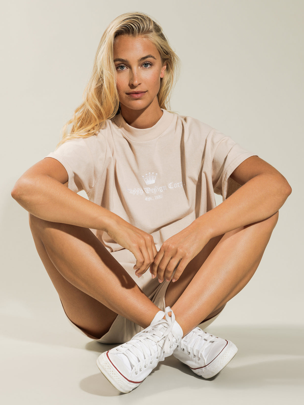 Crown Boxy T-Shirt in Neutral
