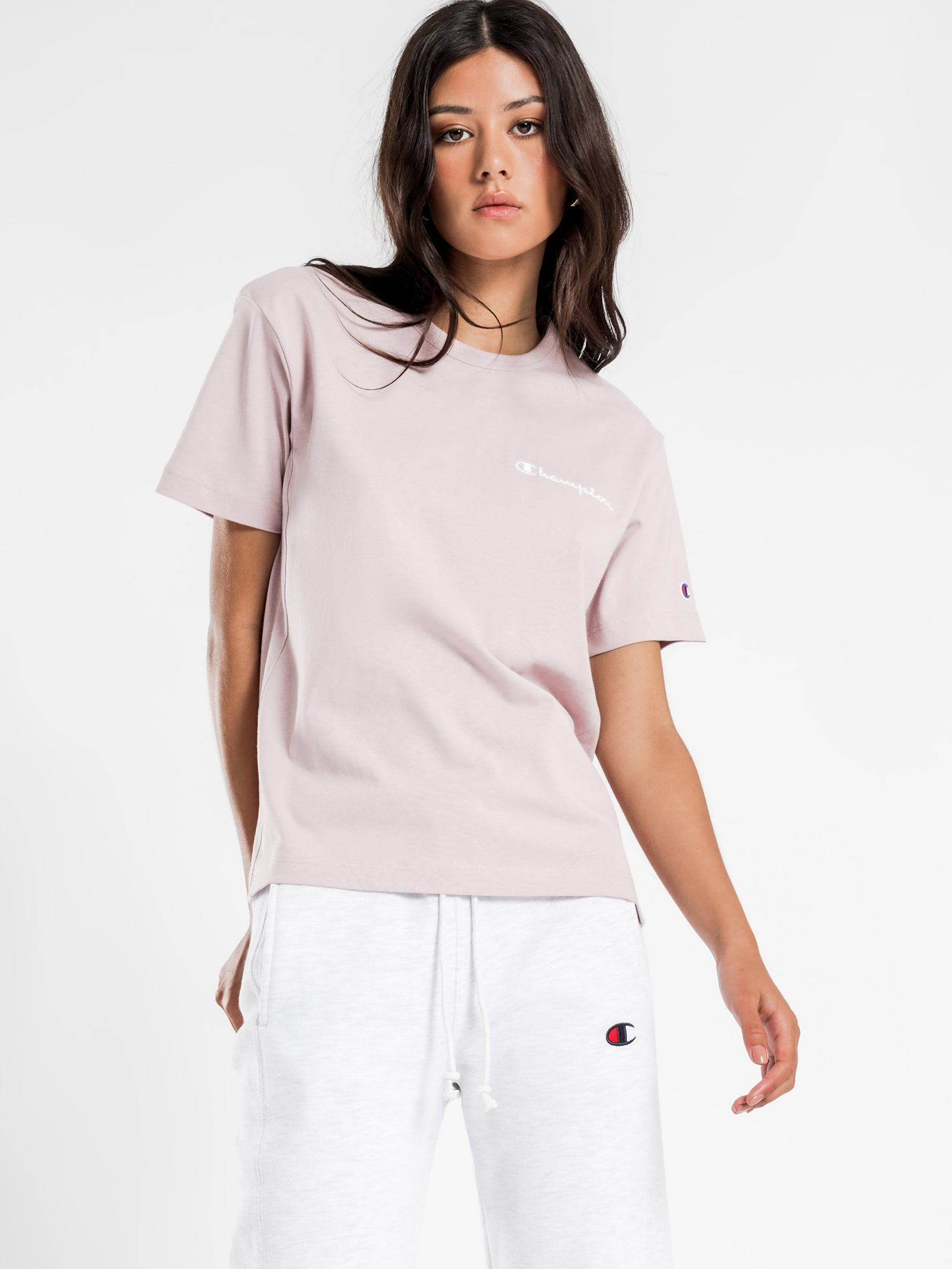 Heritage Boyfriend Tee in Blush