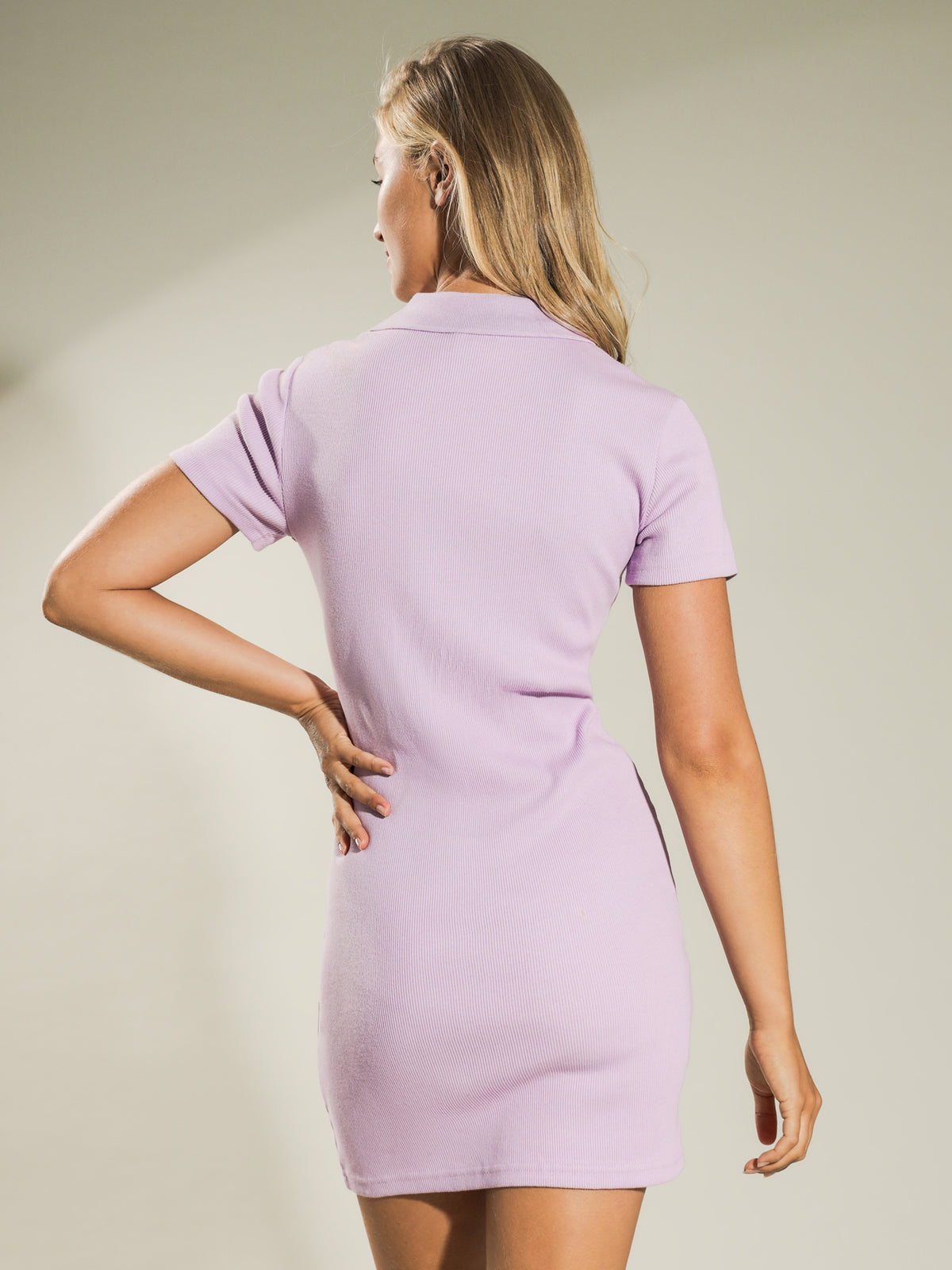 Markham Rib Dress in Orchid
