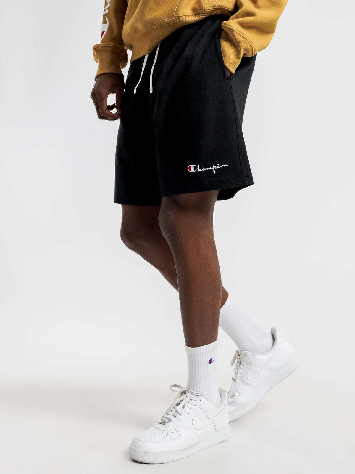Heavyweight Jersey Shorts in Black