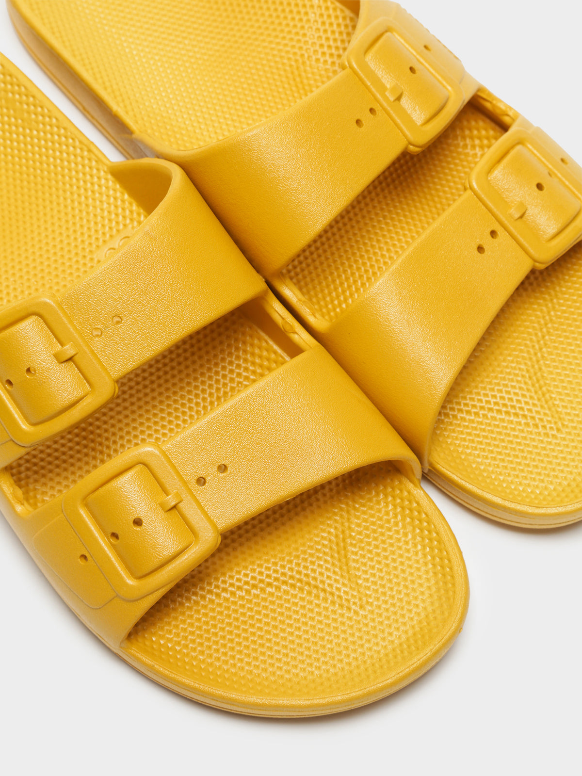 Unisex Freedom Moses Slides in Mustard