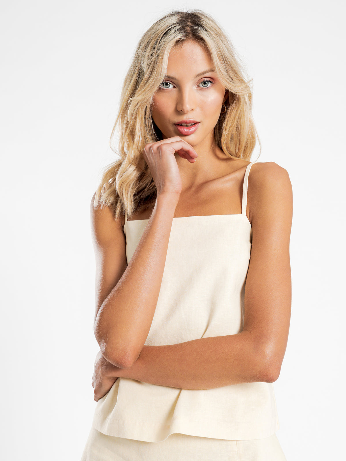Miles Linen Cami in Butter