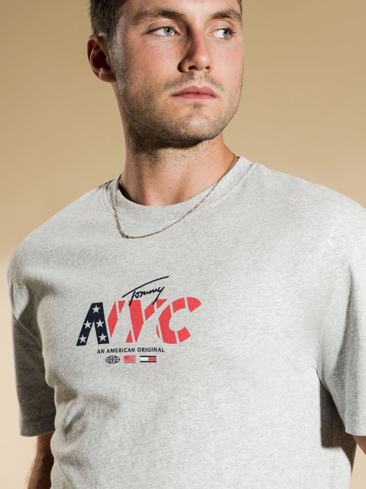 NYC Originals T-Shirt in Light Grey Heather