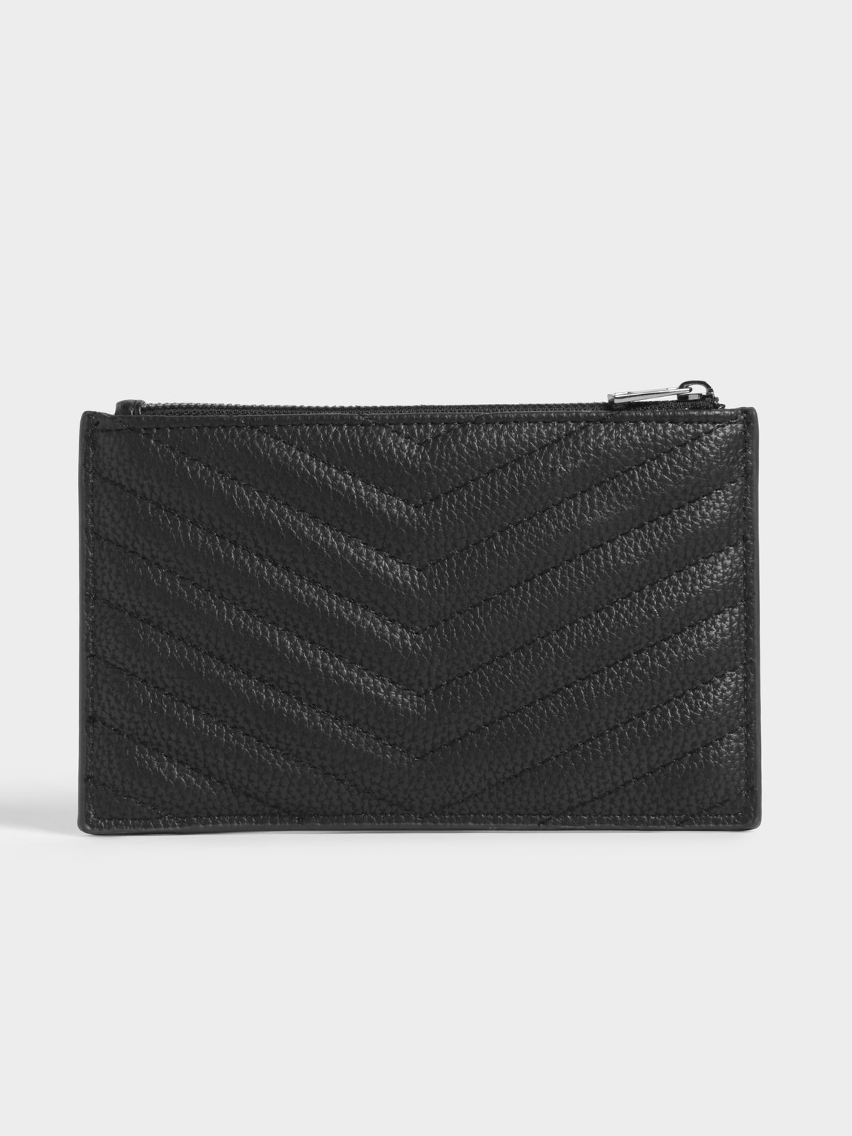 Millie Pouch in Black Chevron Quilt