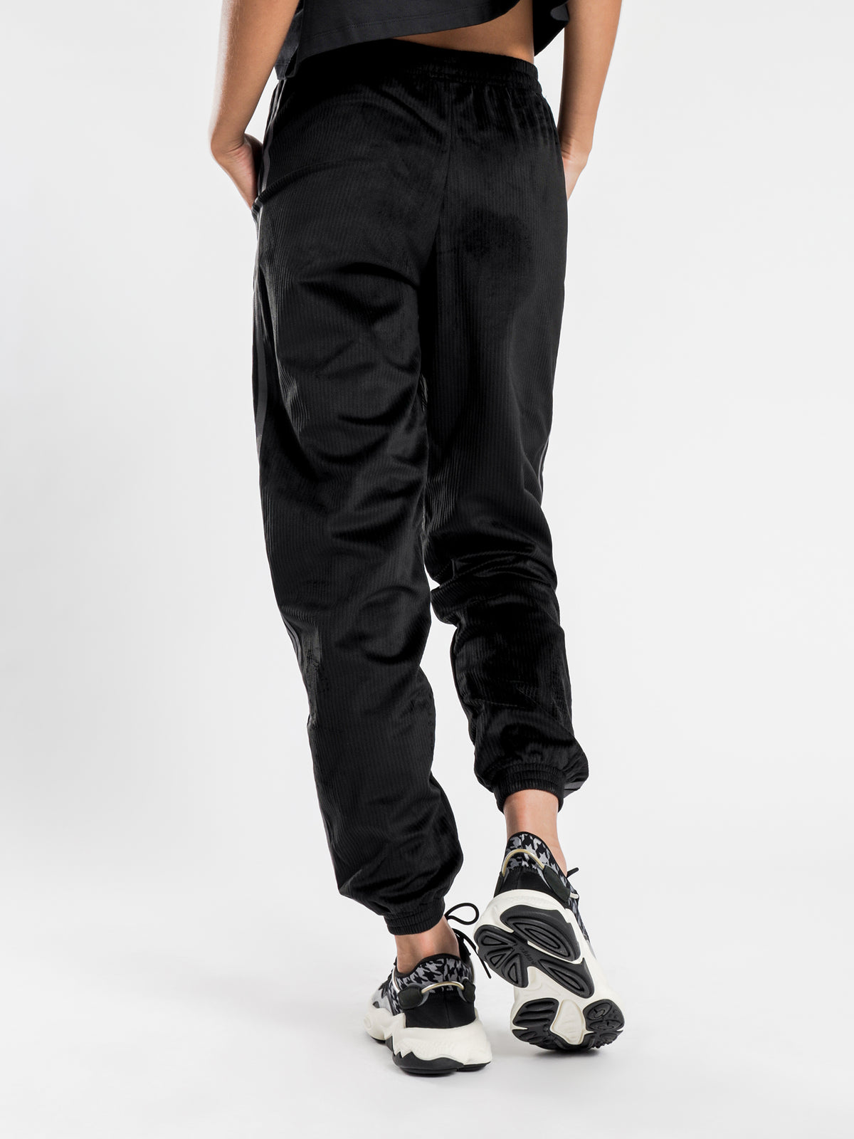 CC Corduroy Track Pants in Black
