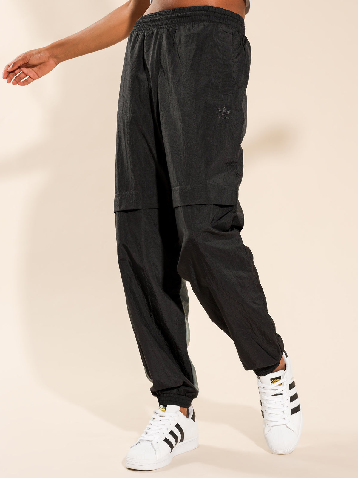 Sliced Trefoil Japona Track Pants in Black