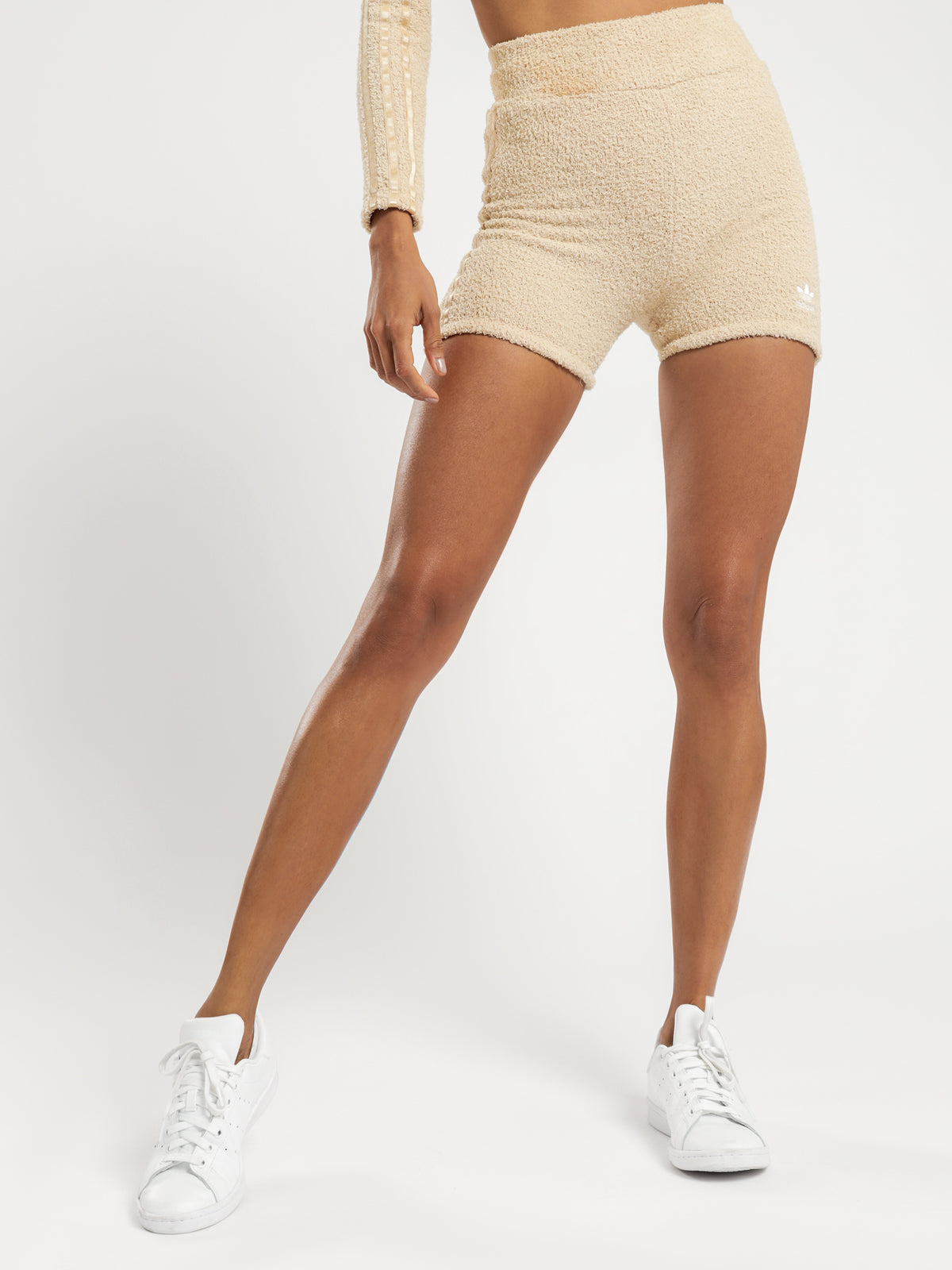 Knit Shorts in Beige