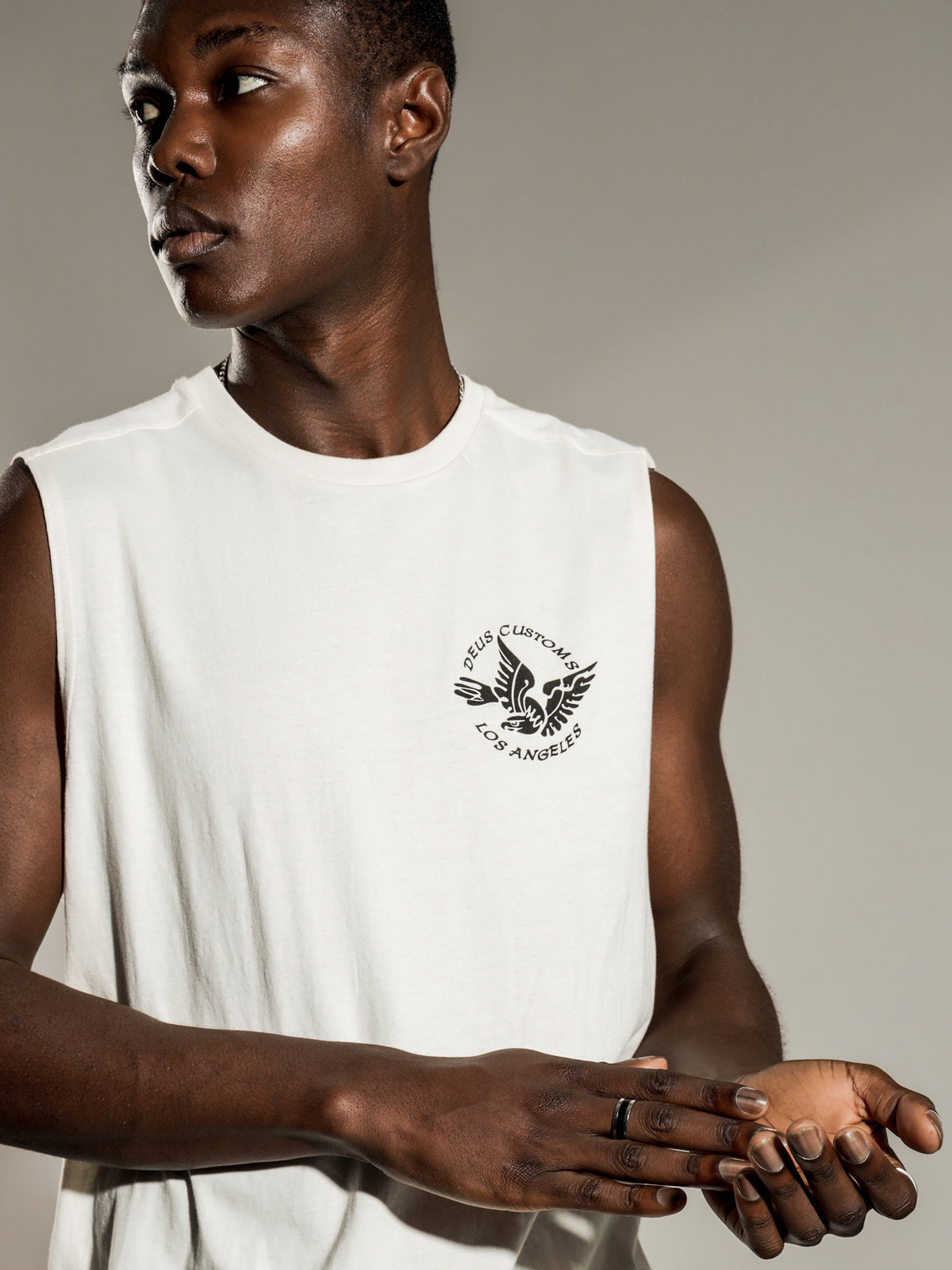 Eagles Muscle T-Shirt in Vintage White