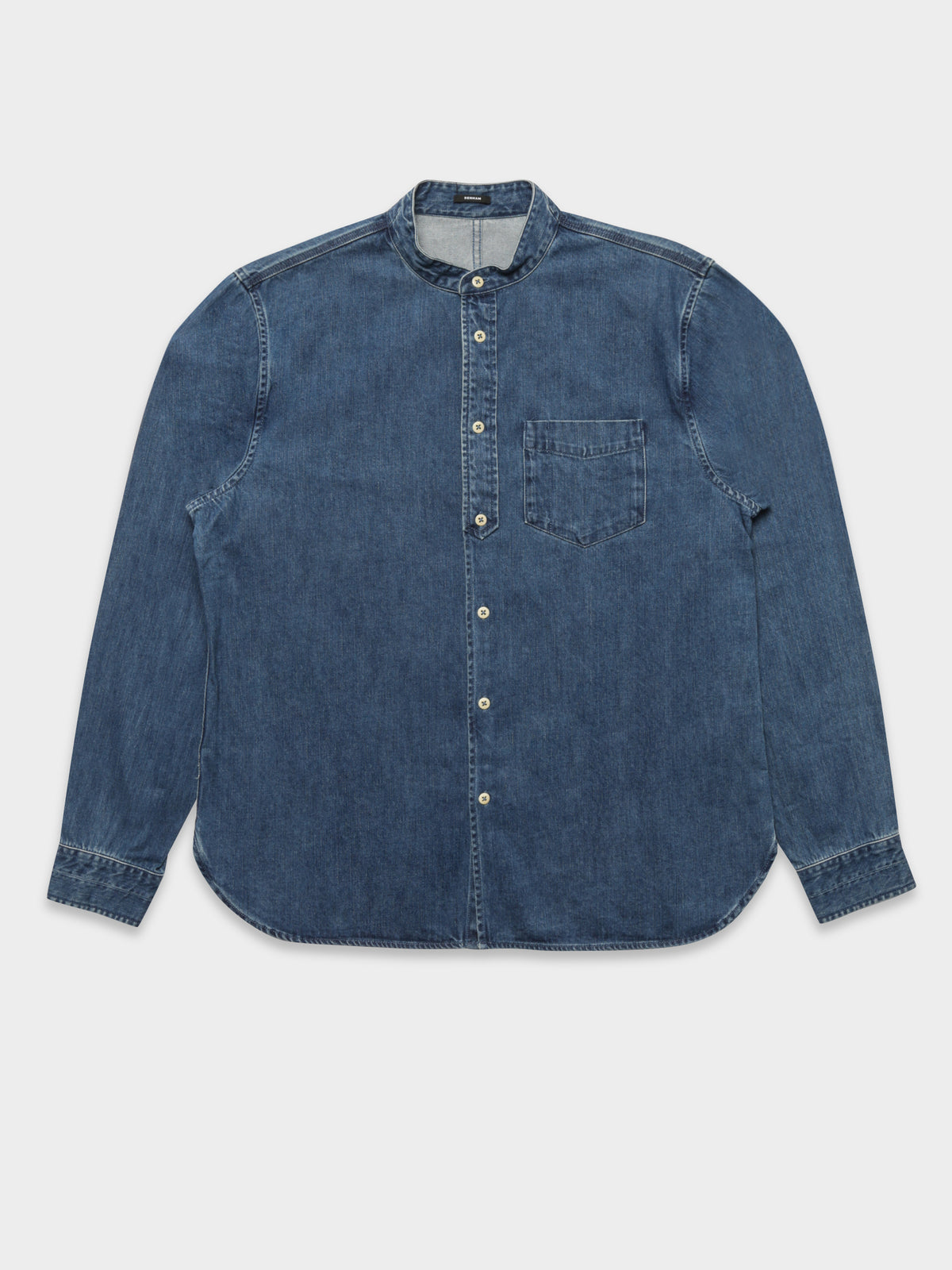 Store Button Long Sleeve Shirt in Indigo