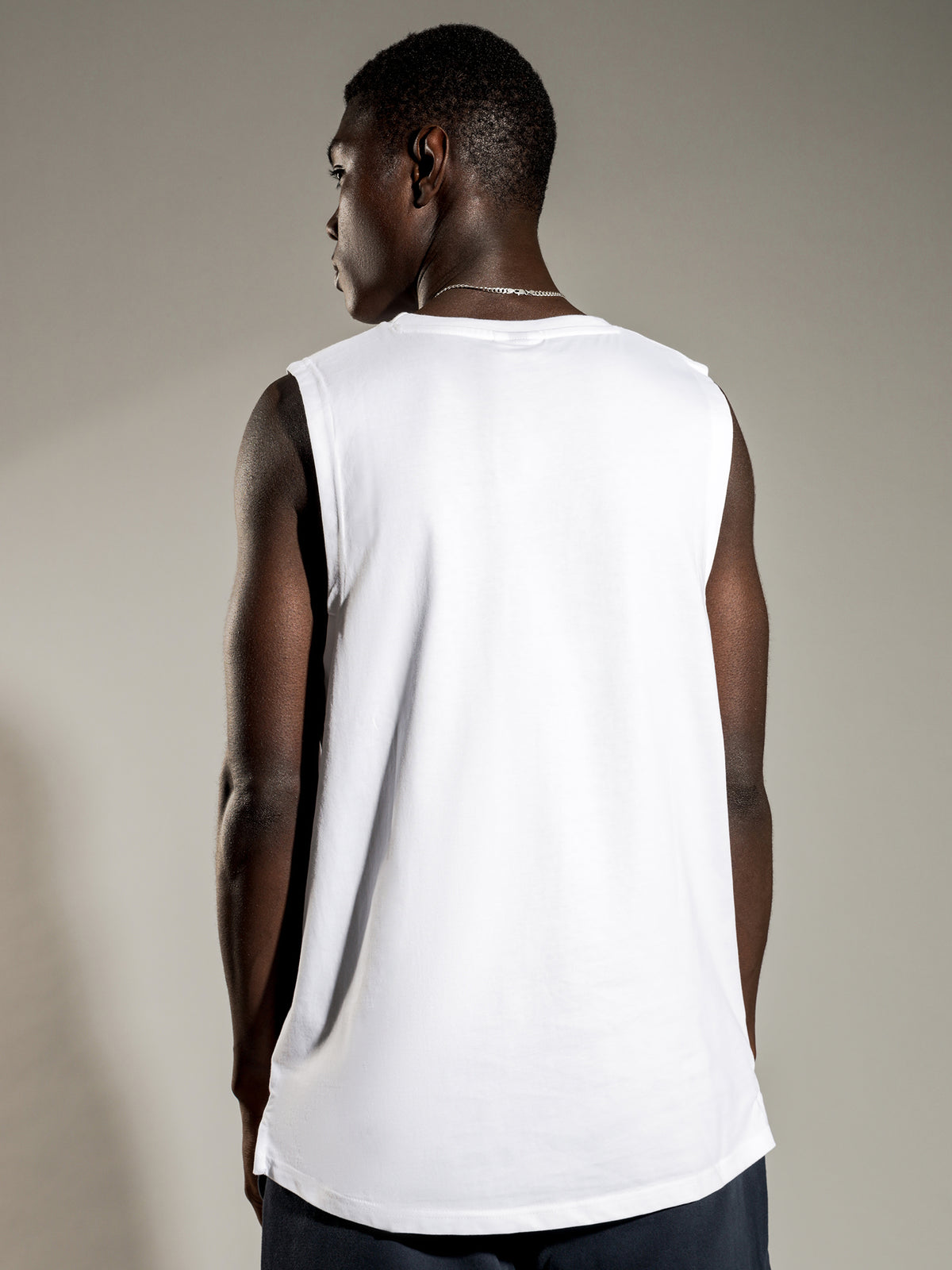 Terri Vest Muscle T-Shirt in White