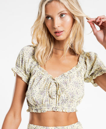 Annika Top in Ditsy Floral