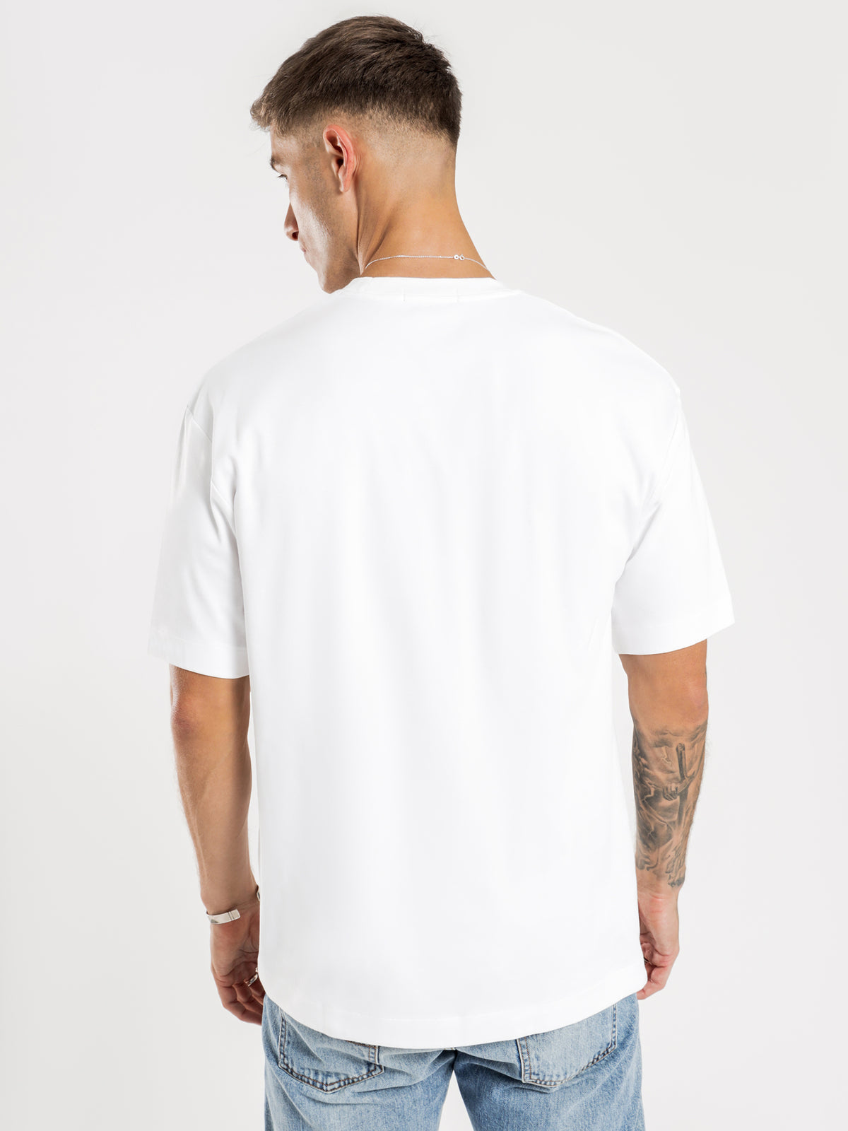 Abstract Sport T-Shirt in White
