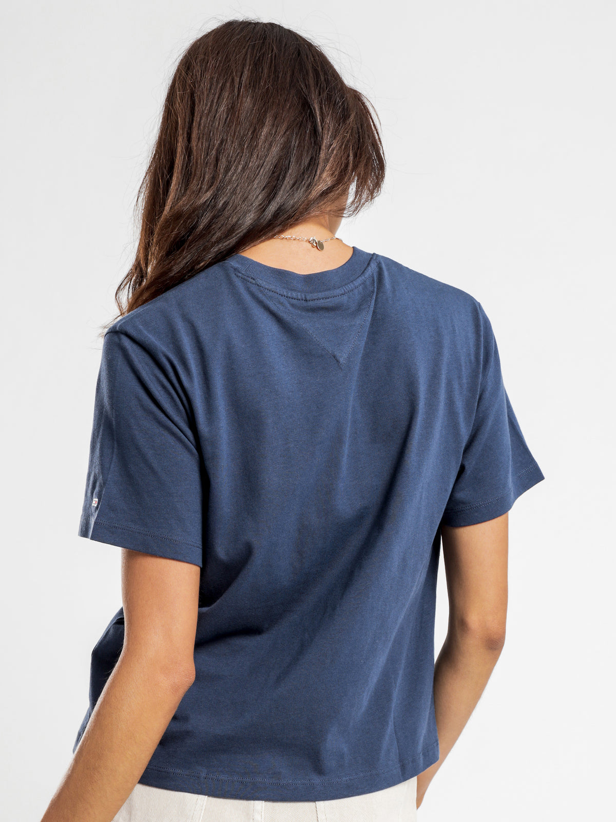 Modern Linear Logo T-Shirt in Twilight Navy