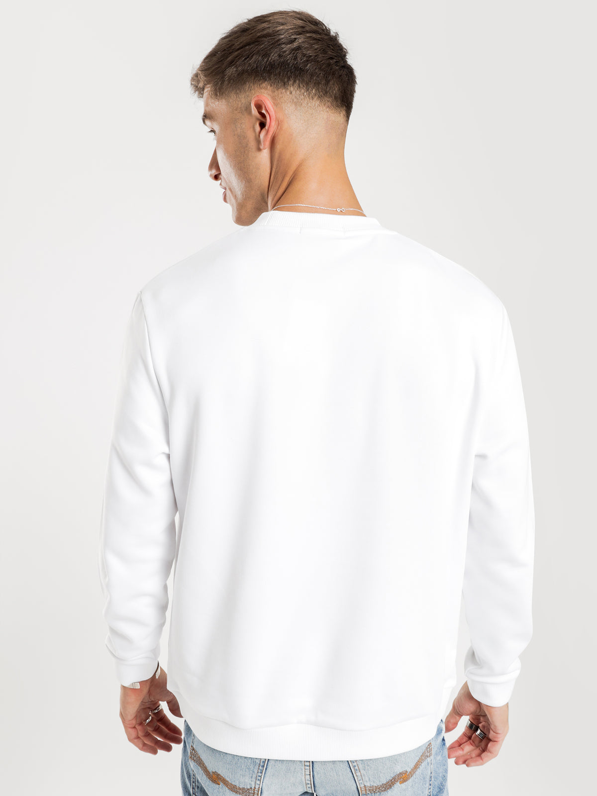 Abstract Sport Sweatshirt in White