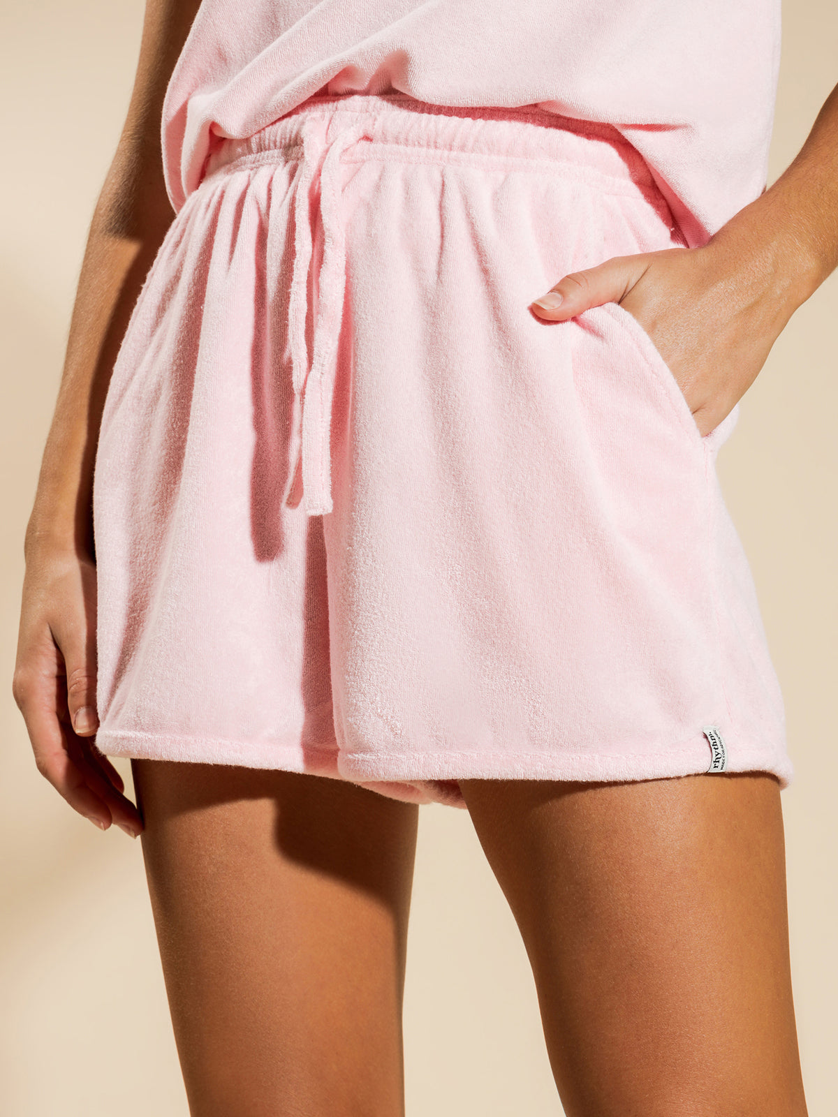 Terry Towelling Shorts in Rose