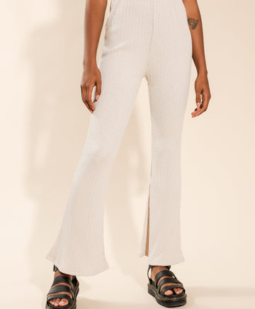 Jada Rib Pants in Cream