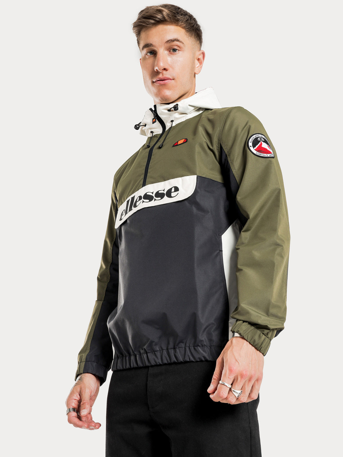 Moretti 1/2 Zip Jacket in Khaki