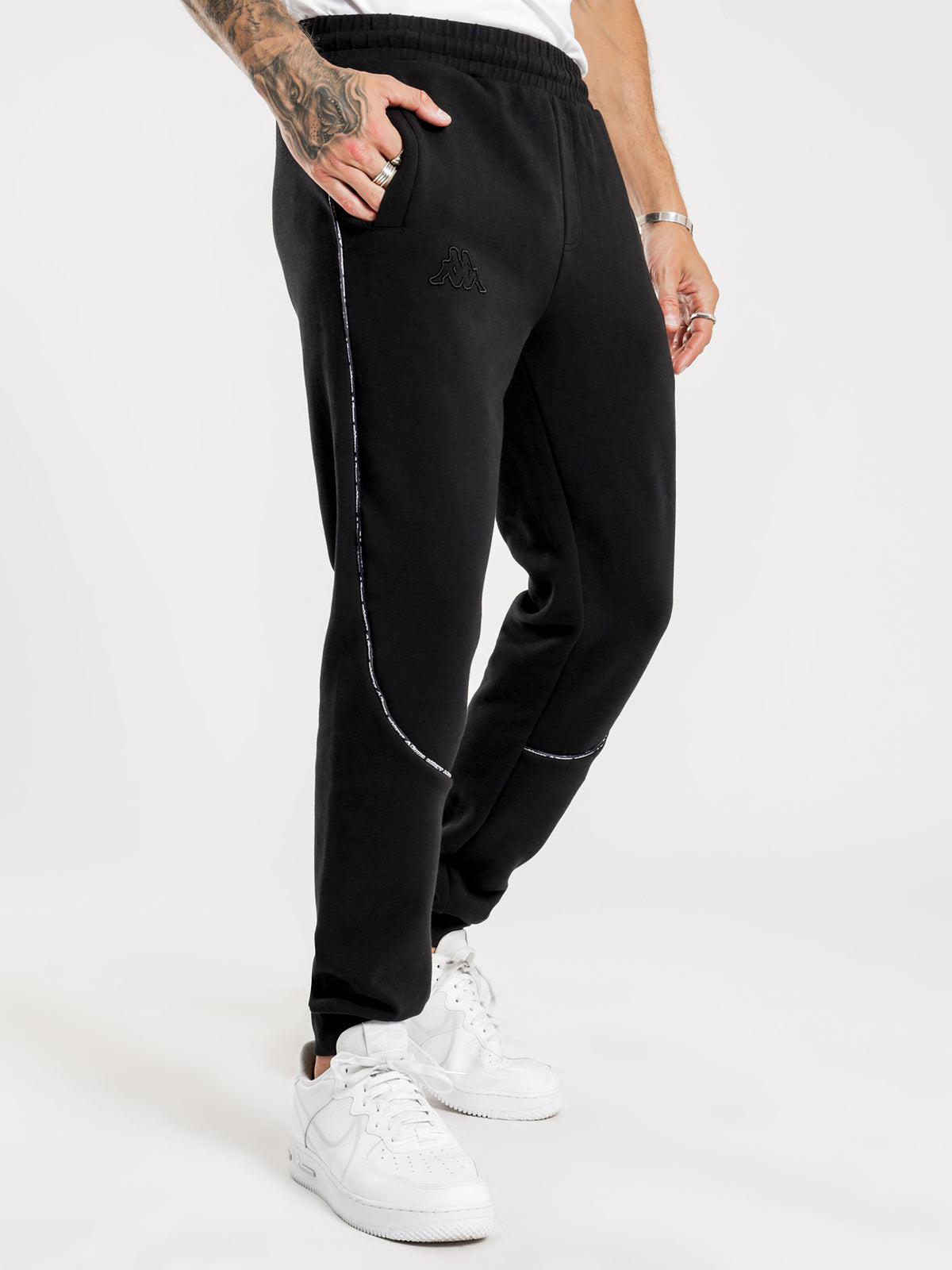 Logo Tape Bapa Track Pants in Black
